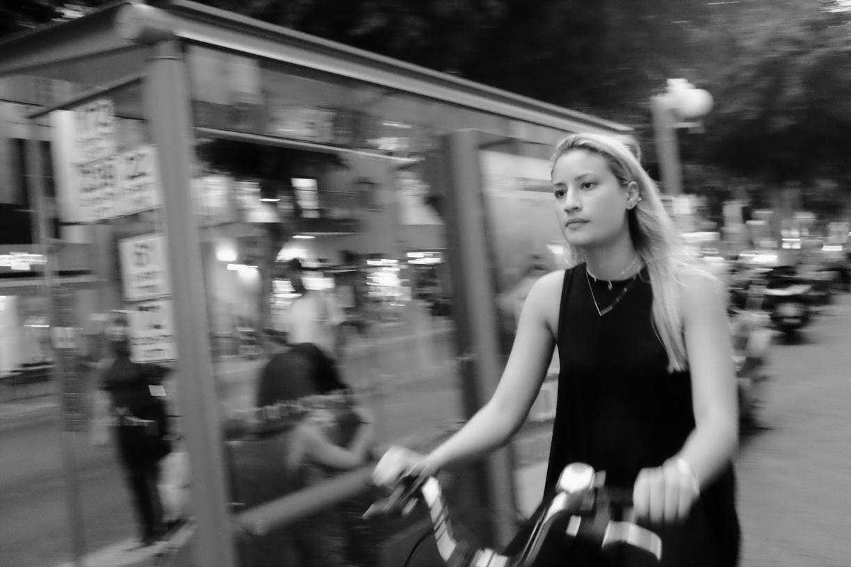 Tel Aviv. Cycling at Night